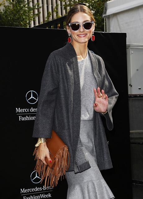 Olivia Palermo Carolina Herrera Fringe Clutch
