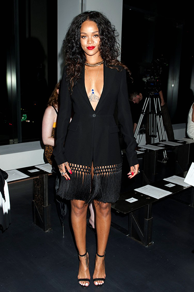 Rihanna at the Altuzarra fashion show