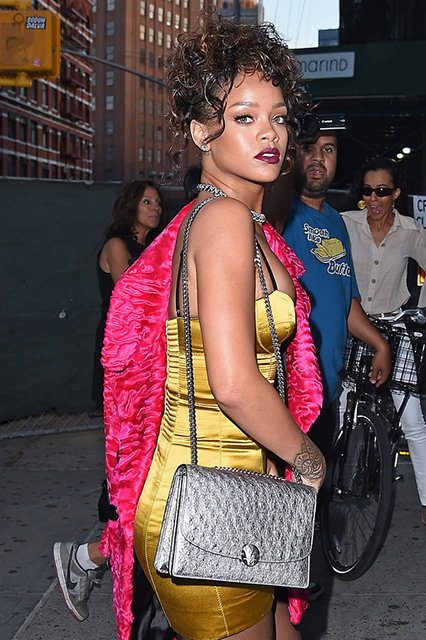 Rihanna Marc Jacobs Ostrich Trouble Bag