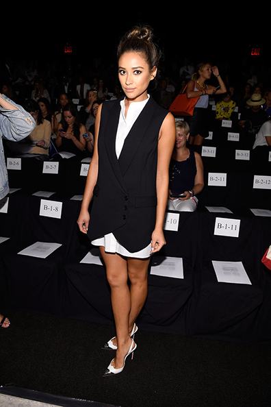 Shay Mitchell at the BCBG Max Azria Spring 2015 runway show