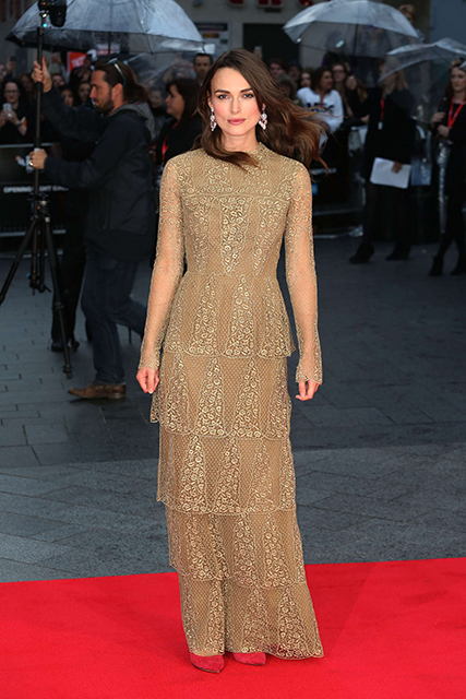 "Keira Knightley at ""The Imitation Game"" Opening Night in London"