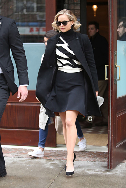 jennifer-lawrence-style-leaving-greenwich-hotel-in-new-york-city  In Christian Dior Couture at 'Serena' Press Junket