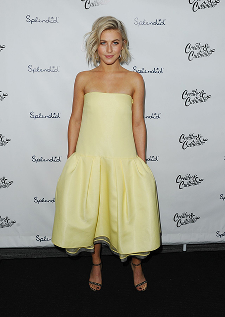 Julianne Hough In Monique Lhuillier at Create & Cultivate's Speaker Celebration