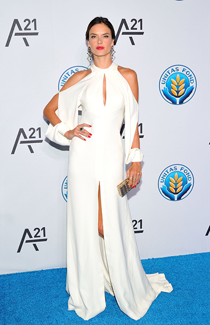 Alessandra Ambrosio attends the Unitas gala against Sex Trafficking
